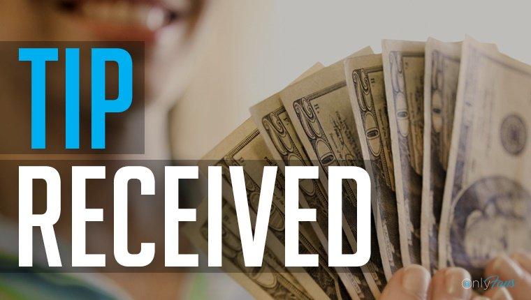 My #fan leadwlove33 has just sent me a $20.00 TIP! Fk5d6MipV5 mJvfJpIY4m