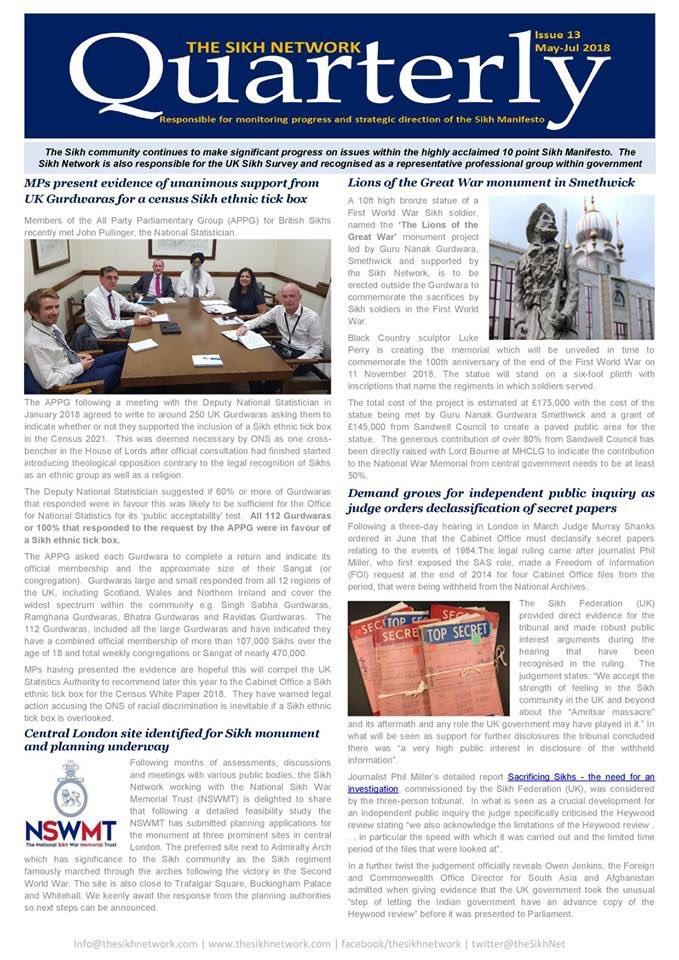 test Twitter Media - The Sikh Network Quarterly Newsletter #13 (May-Jul) #SikhManifesto #UKSikhSurvey https://t.co/M1OjhlM95s