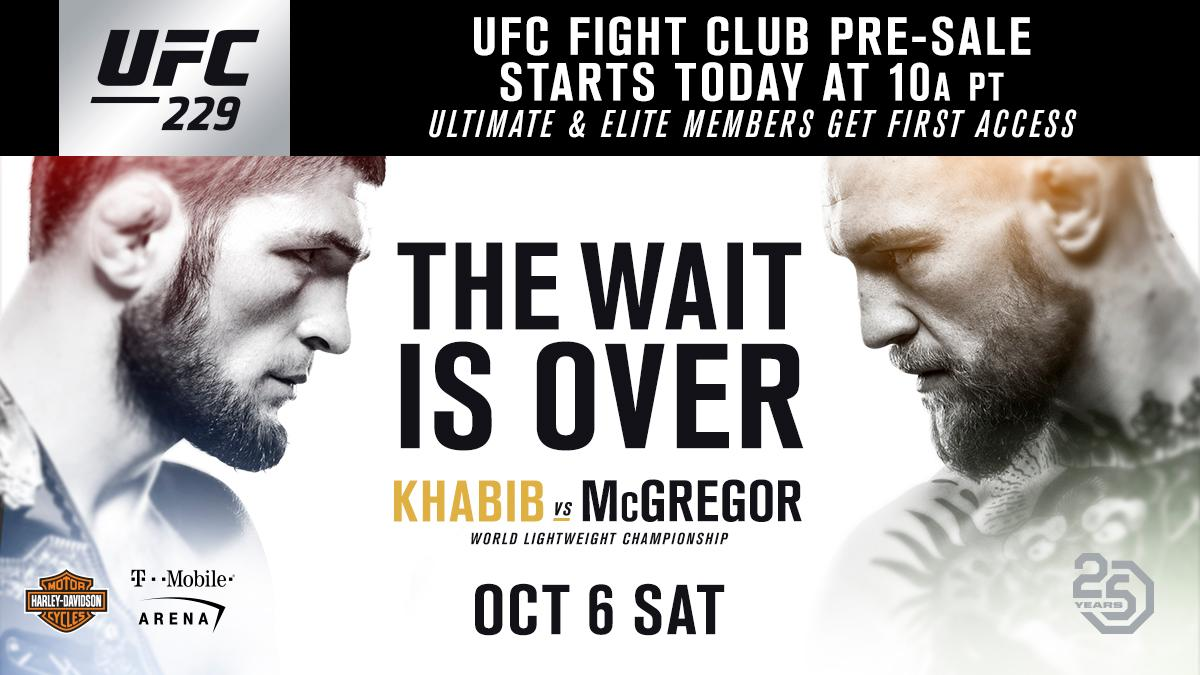 RT @UFCEurope: Get your #UFC229 tickets now before ANYONE via @UFCFightClub!  🎟 https://t.co/08mhwIqm0S https://t.co/HzGJXldB7v