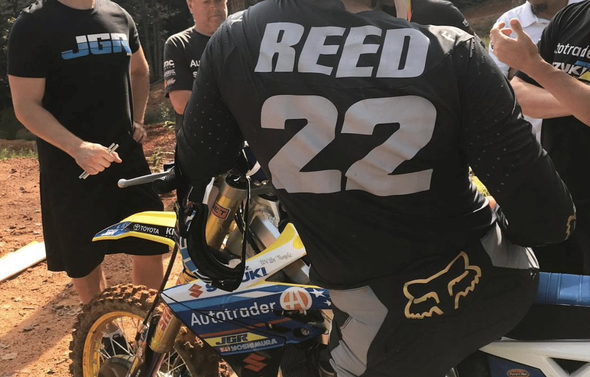 RT @MotocrossNews: CHAD REED TESTING THE JGR AUTOTRADER SUZUKI RM-Z450 IN NORTH CAROLINA https://t.co/sXUk4Gi9We https://t.co/KR1CUumdto