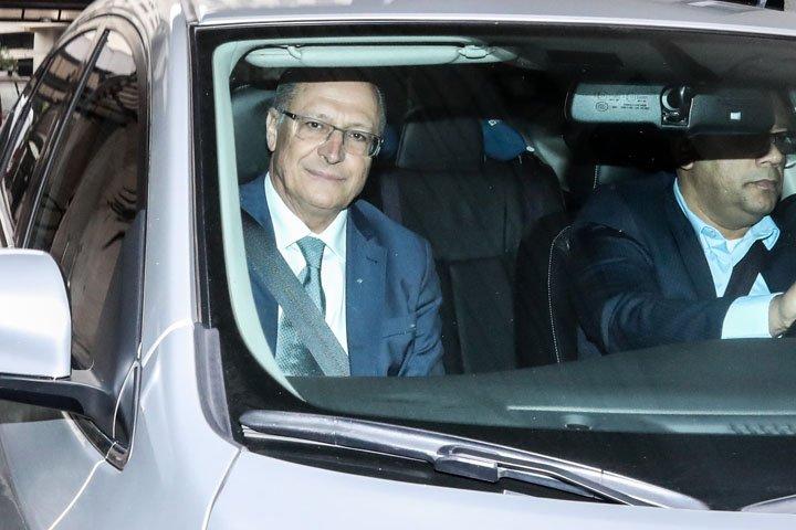 @BroadcastImagem: Alckmin depõe por uma hora no MP-SP sobre inquérito que apura caixa 2 da Odebrecht. Gabriela Biló/Estadão