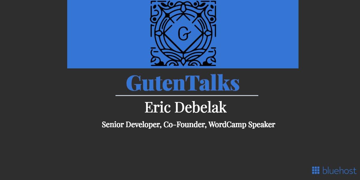 GutenTalks: Bluehost and Co-Founder Eric Debelak https://t.co/Kb0D8nXqo7 #startup #business #clicks #twittertips https://t.co/XnBVn8QdKv
