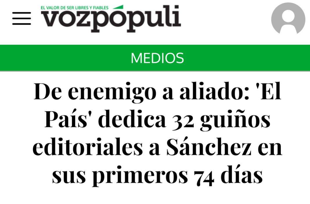 Cuando el diario El País habla muy bien de ti, es que ya eres la marioneta preferida del Ibex. https://t.co/ThoPaVj3Ld