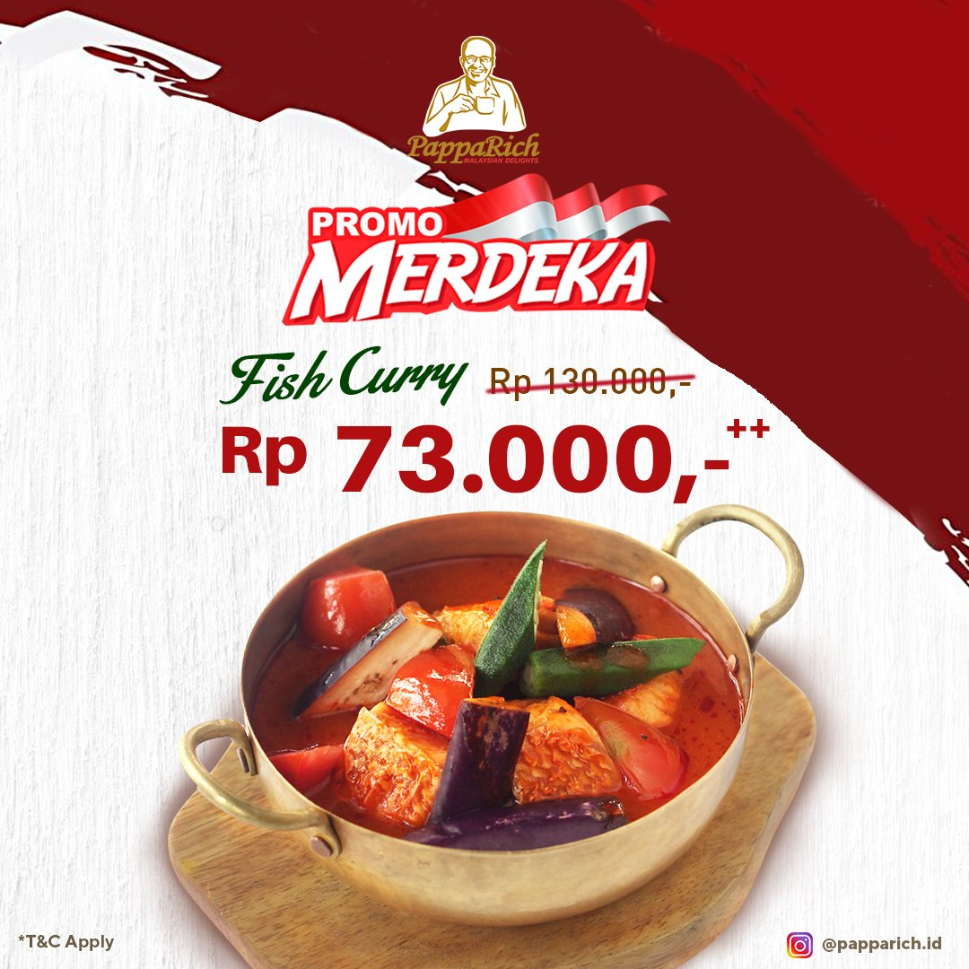 PappaRich Merdeka Promotion. Fish curry 73k only. Come and taste it! . #LippoMallKemang #LMK #Papparich #culinary https://t.co/LYLKpzjpIO