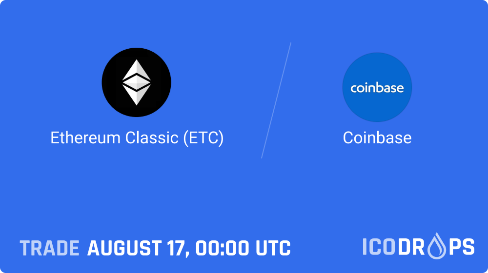 ETC will be available for buying, selling, storing on Coinbase on August 17, 0:00 UTC.   https://t.co/brX3wTTYnT https://t.co/DFMHBjte0V