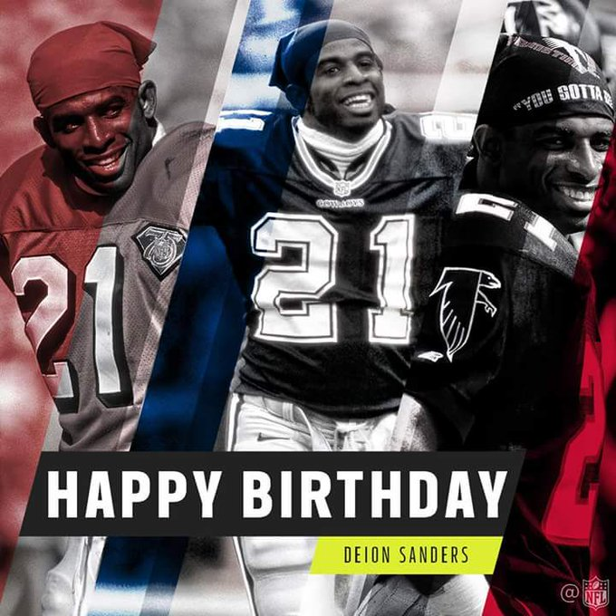 Dominating athlete. Electric personality. Pro Football Hall of Fame legend.  HAPPY BIRTHDAY, Deion Sanders!