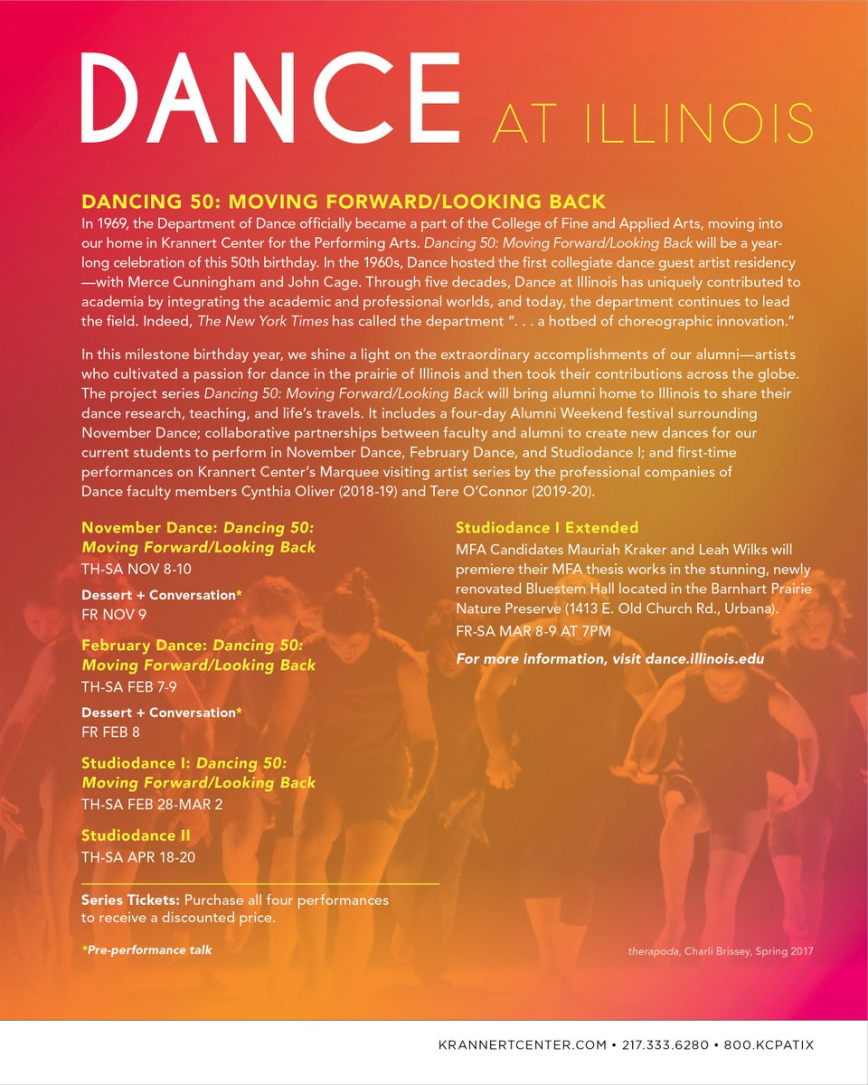 RT @DanceatIllinois: The 18-19 academic year has officially begun! Check out our incredible 50th anniversary season @KrannertCenter! https:…