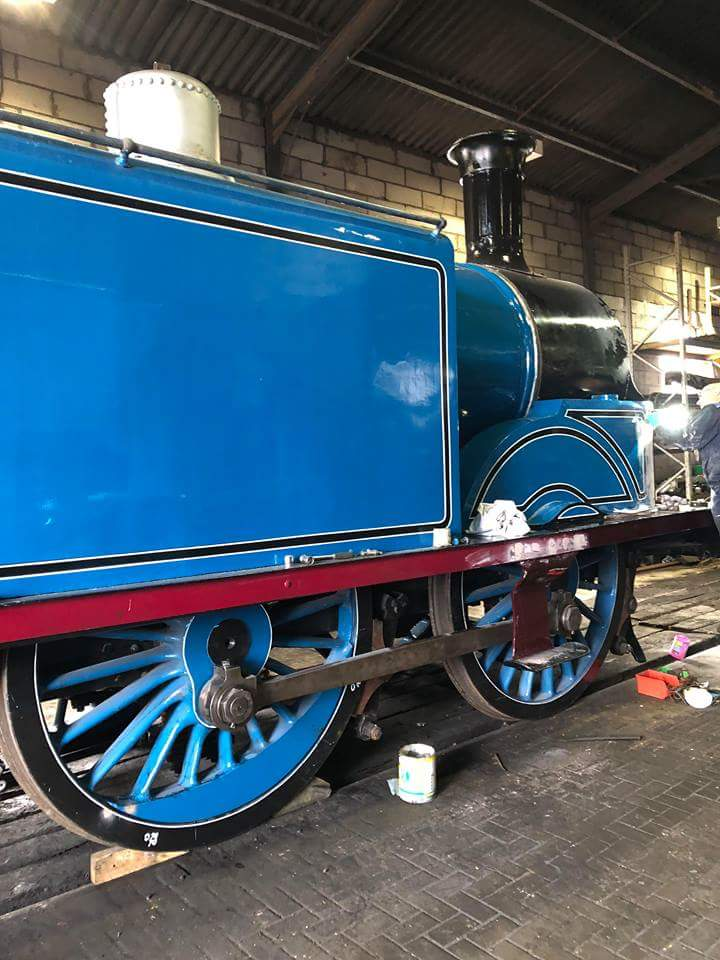 test Twitter Media - Caley Tank No. 419 is really starting to look fantastic in her Caley blue livery. She'll be starring at our #AutumnSteamGala from 2 - 4 November 2018. Be sure to come along! @bonessrailway #TeamSteam 👌 ^JS https://t.co/KfJVbmMjJK