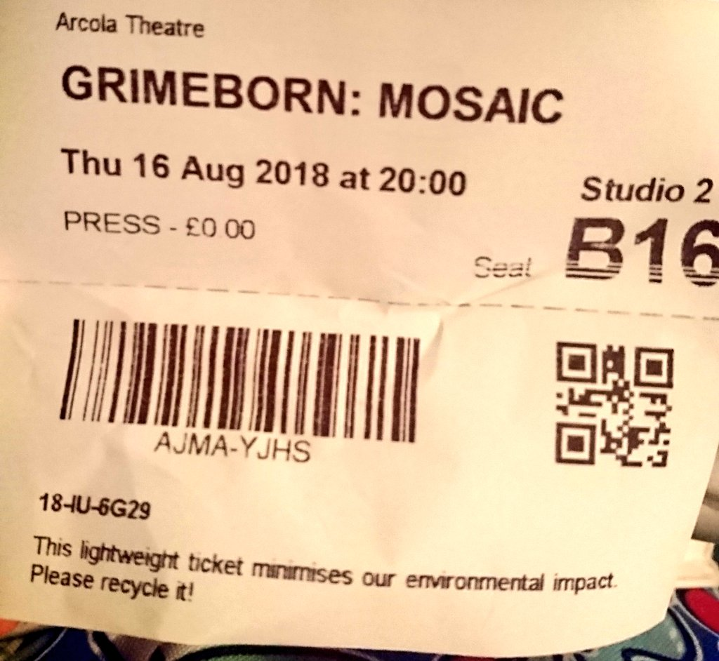 test Twitter Media - I know... third time at the Arcola for #Grimeborn this week. Might as well call it an obsession. #Mosaic https://t.co/zYl43CJDp4