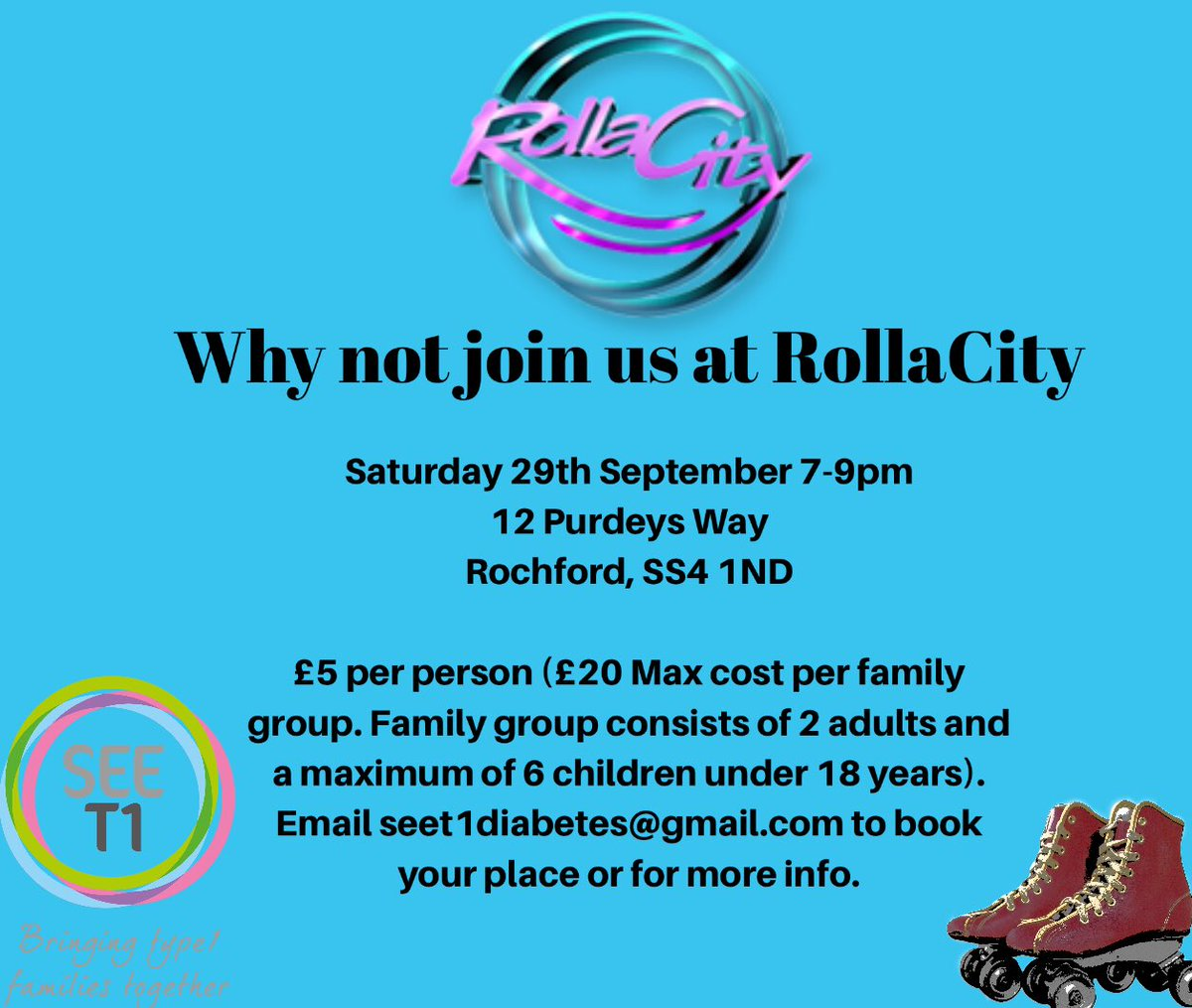 test Twitter Media - Looking forward to getting our #skates on @rollacityessex Why not join us? #Type1 #T1d #diabadass #diabuddies #Bringingtype1familiestogether #type1diabetes #Rollerskates #fun #essex https://t.co/AEp7KteZSZ