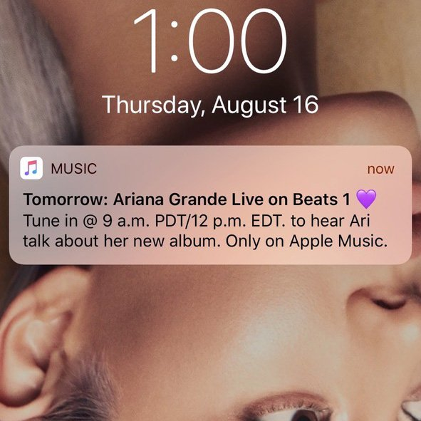 RT @AppleMusic: Just announced! ♡  @ArianaGrande x @oldmanebro on @Beats1. https://t.co/TIeYXaajJP #sweetener https://t.co/IZjih5Rer9