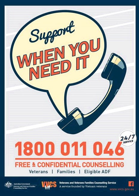 test Twitter Media - If  Vietnam anniversaries are causing anxiety and other issues there is 24/7 help from the Veterans and Veterans Families Counselling Service on  1800 011 046 https://t.co/p3HjFsljPd