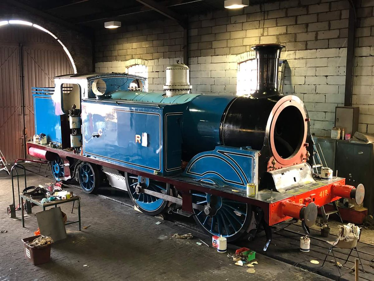 test Twitter Media - The overhaul of C.R. No.419 is nearing completion. Be sure to come and see this sole surviving locomotive class at our #AutumnSteamGala from 2 - 4 November 2018. #TeamSteam 👌 @bonessrailway ^JS https://t.co/IAq3h1DIOr