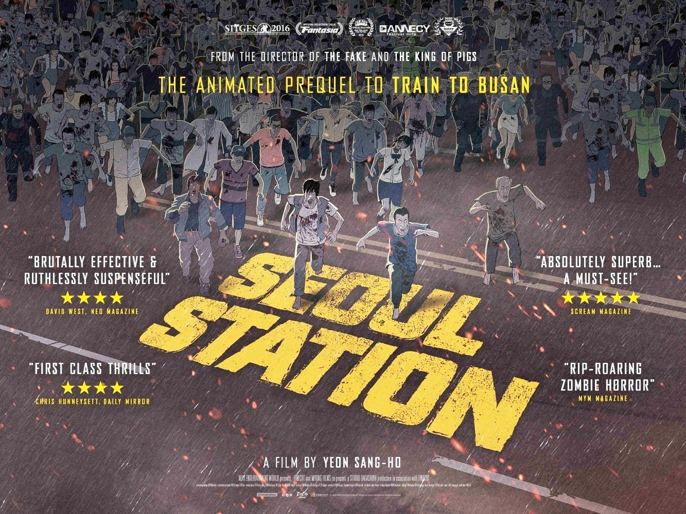 Don't forget! We're screening Yeon Sang-ho's animated horror Seoul Station, the prequel to Train To Busan, at 11.15pm. https://t.co/uI9n7m04WR