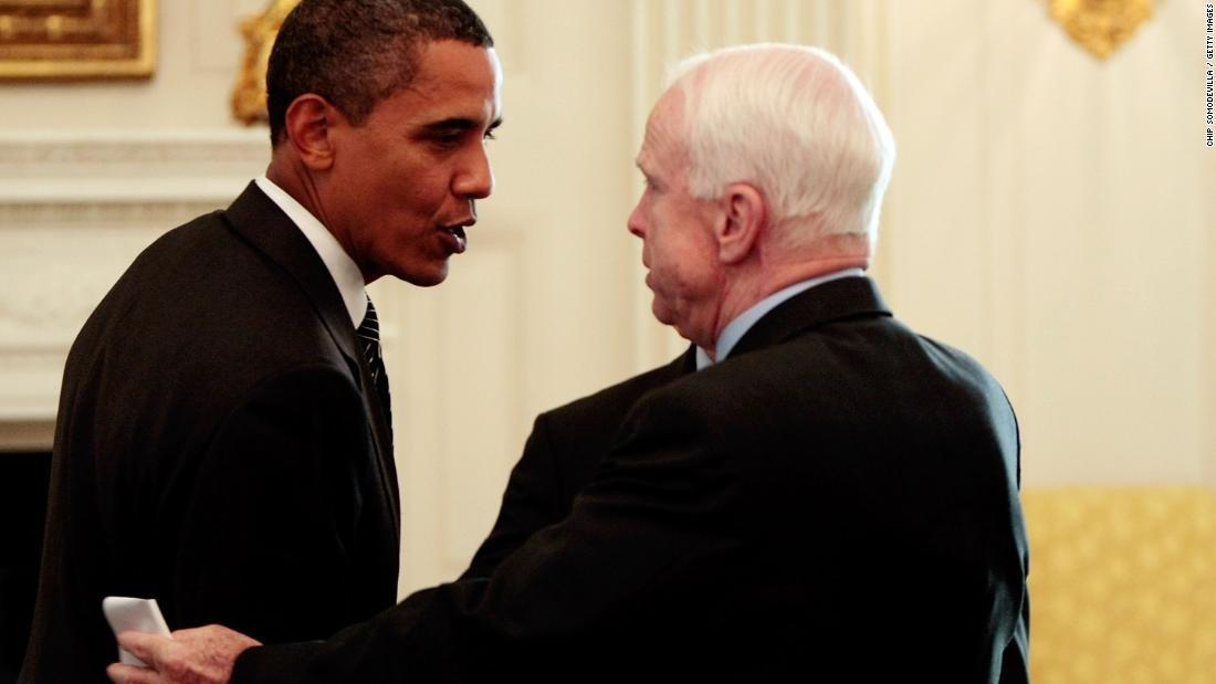 Inside US Sen. John McCain's surprise eulogy invitation to former President Barack Obama