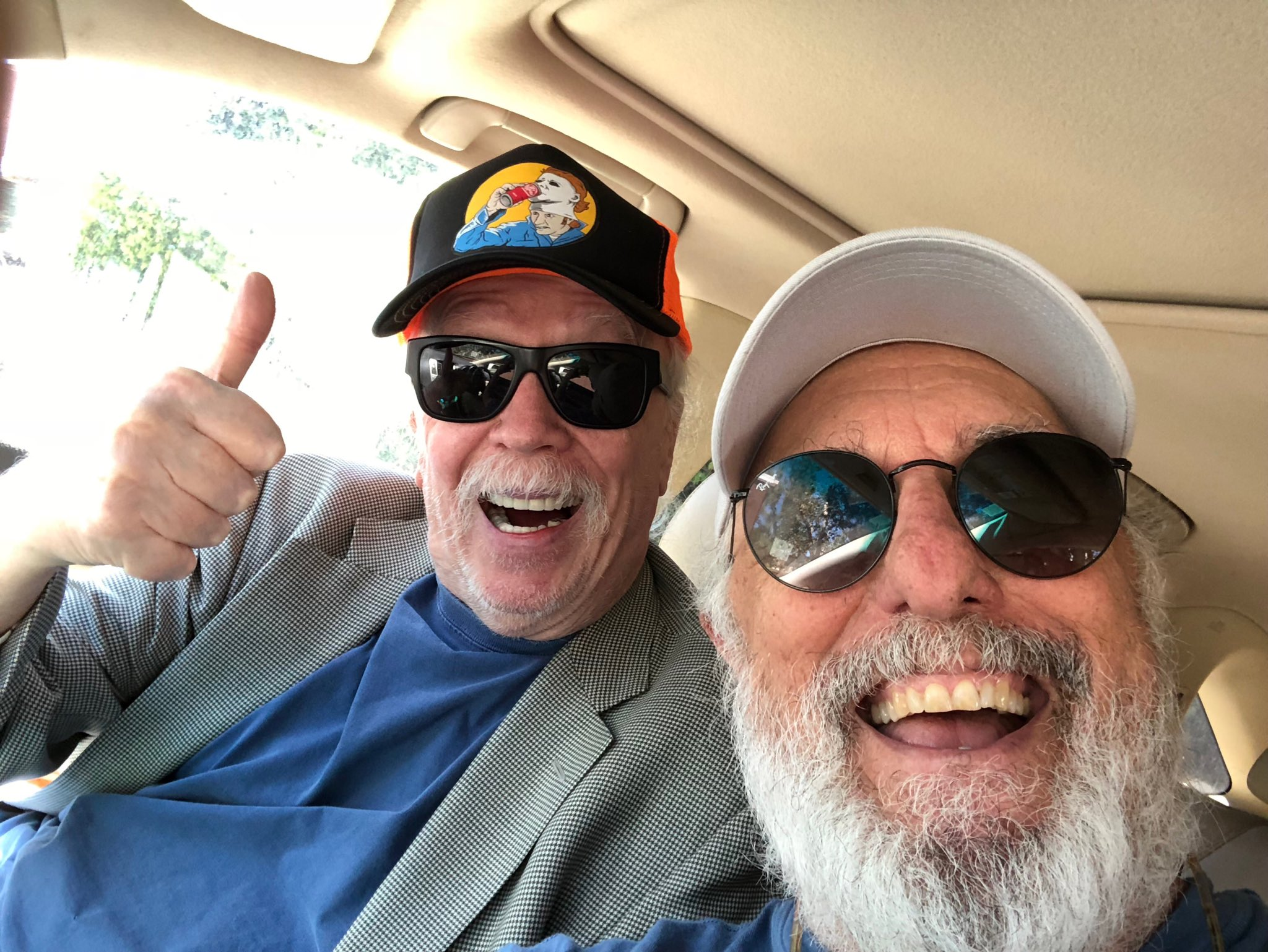 After lunch at Musso's with the Horror Master, he sends a big thumbs up to the fans.  The film's in last stage of mixing and looking great. https://t.co/q01qG8wrFN