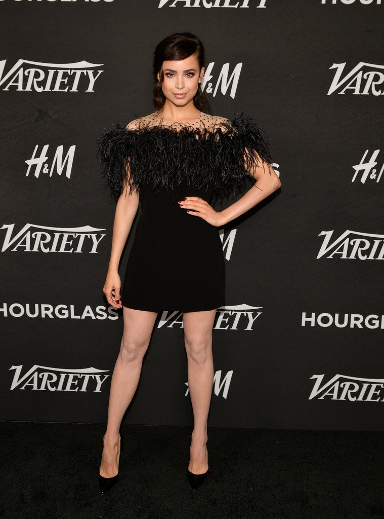 Sofia Carson Wore An Embroidered Black Dress To Varietys Power Of