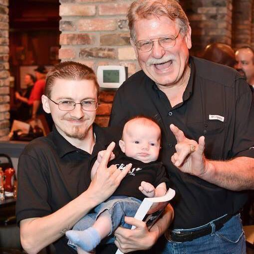 Happy birthday to the man. Hall of Famer, Stan Hansen, Here with my son Luke and I. HOF 2014