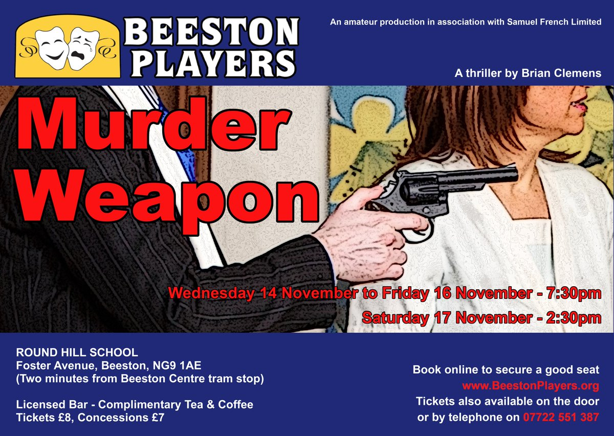 test Twitter Media - Beeston Players are pleased to announce our November 2018 production. Tickets now available at https://t.co/iwQB84OaZI  Casting announcements to follow soon https://t.co/mIV6k5rbhT