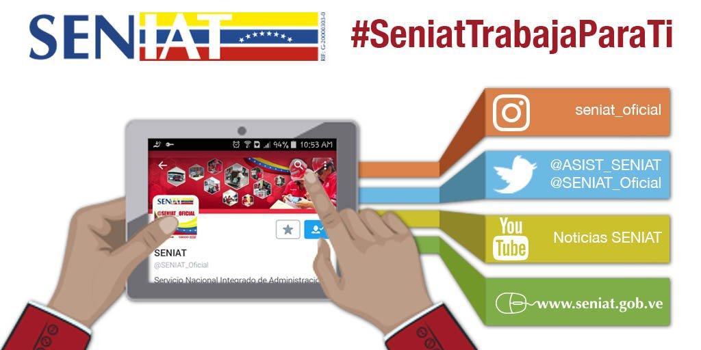 RT @SENIAT_Oficial: Amigo contribuyente, nuestros canales de comunicación están a tu disposición. #SeniatEsPatria https://t.co/YpwNAv9G2W