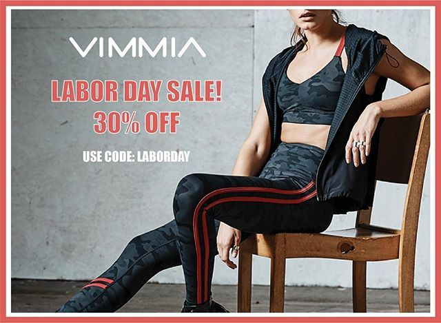 Site-wide and store-wide sale begins now! Use code LABORDAY at check out to receive 30% off all your favorites! #vimmia #sale #summer