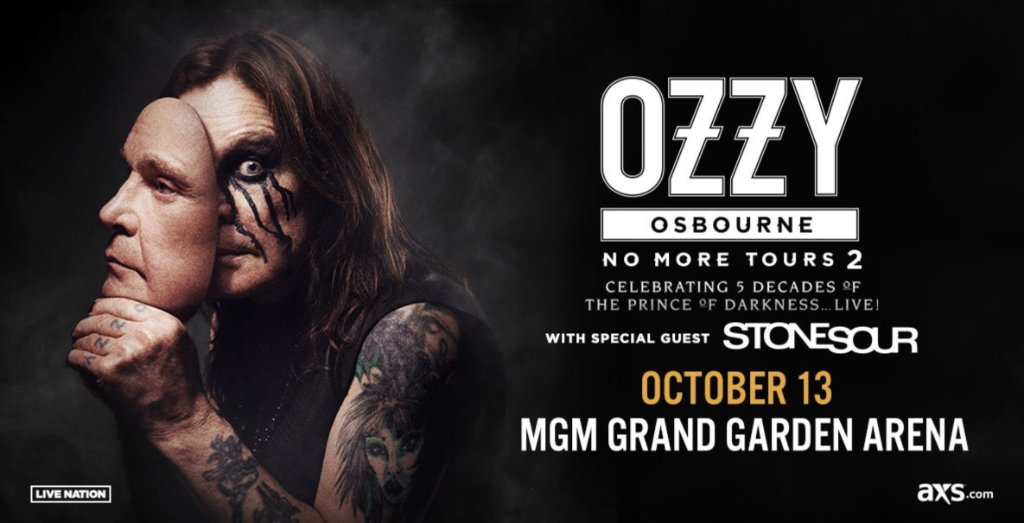 test Twitter Media - The Prince of Darkness @OzzyOsbourne is ending his farewell tour #LiveatMGM on 10.13.18. Buy your tix now: https://t.co/co0u5fsA4Z https://t.co/VxWqPAzESt