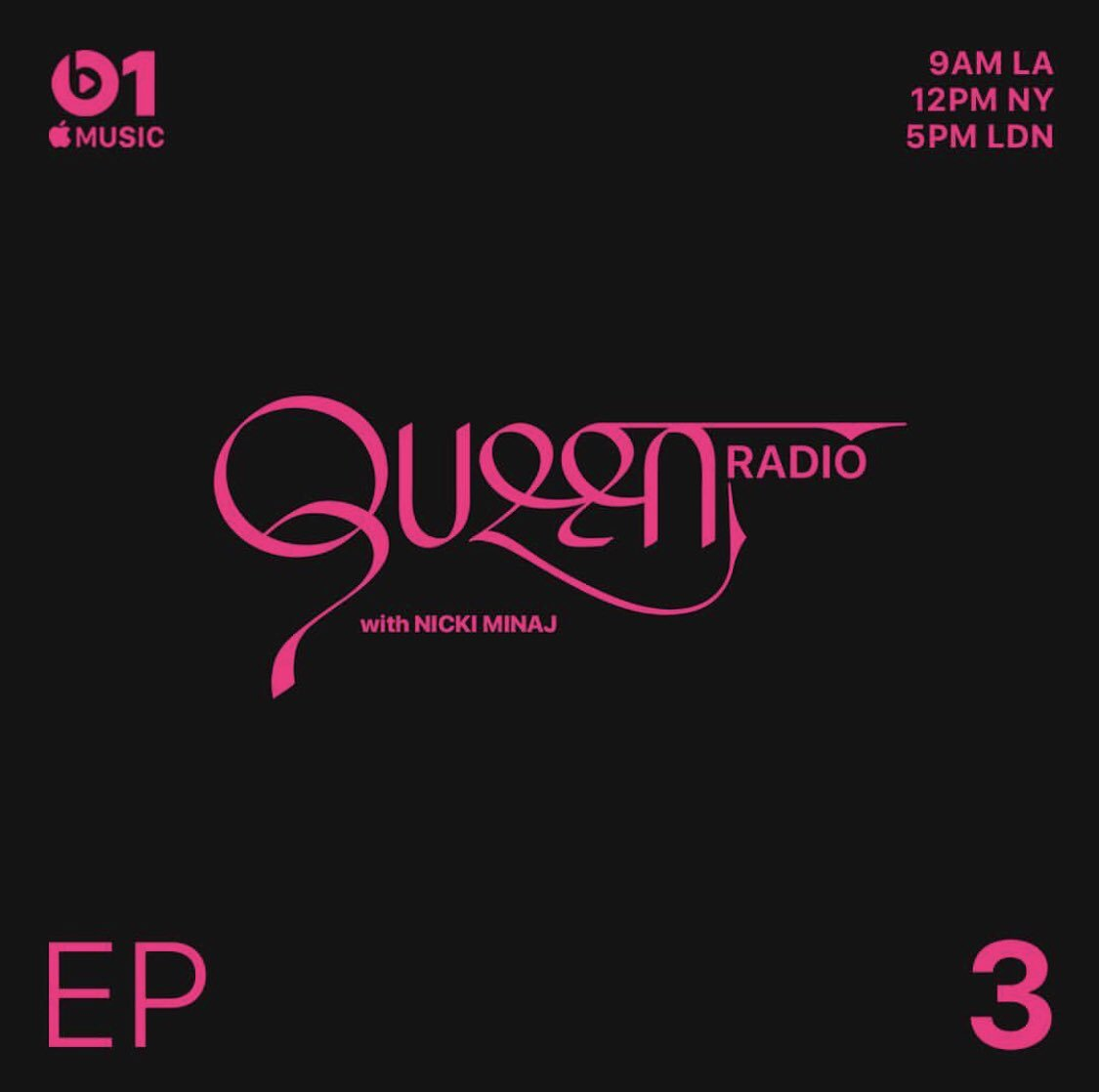 Tomorrow @ noon EST #QueenRadio @AppleMusic https://t.co/2Gi45YOodt