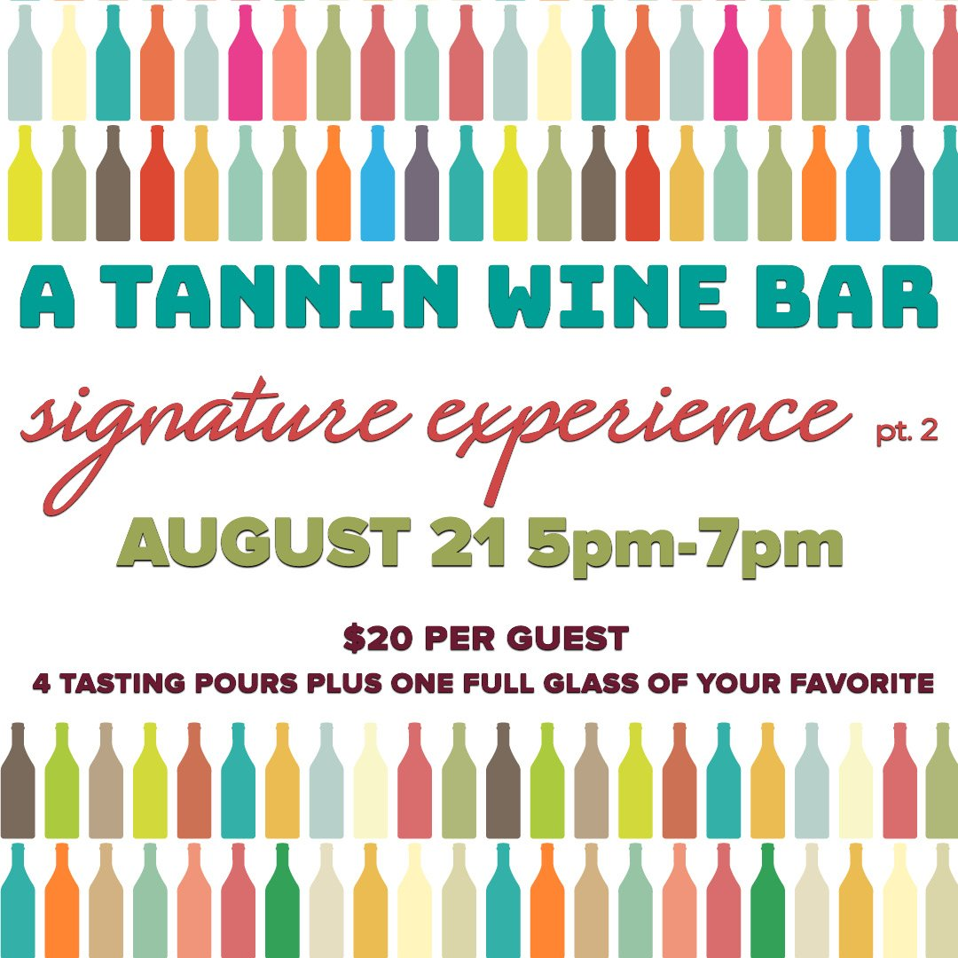 Don't forget tomorrow is our next Signature Tasting!