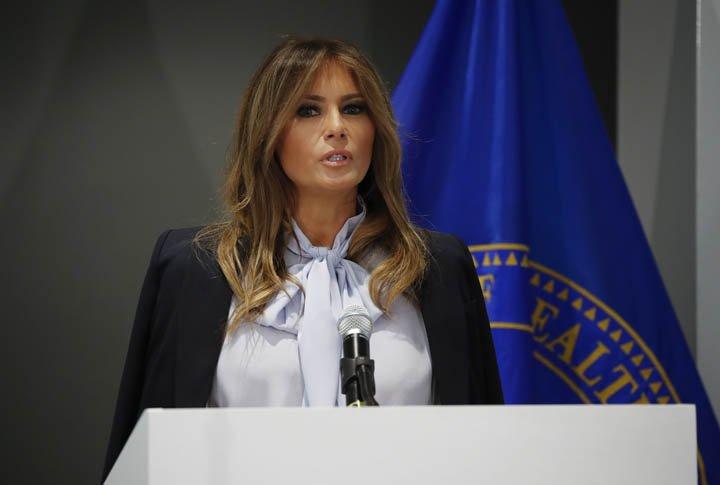 @BroadcastImagem: Melania Trump participa da 6ª Cúpula Federal de Prevenção ao Bullying, em Maryland. Pablo Martinez Monsivais/AP