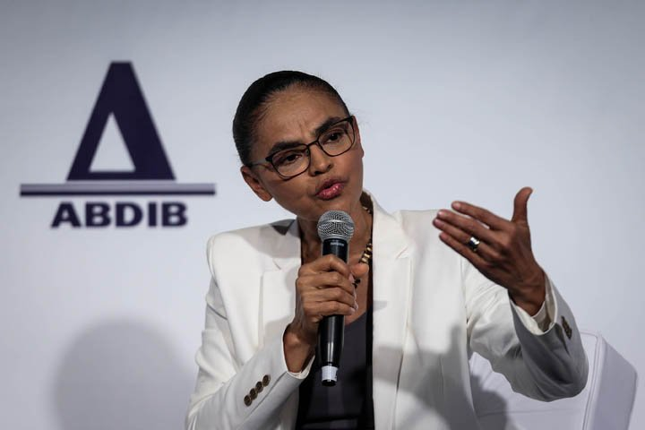 @BroadcastImagem: Marina Silva (Rede) participa de debate no Abdib Fórum, em SP. Felipe Rau/Estadão