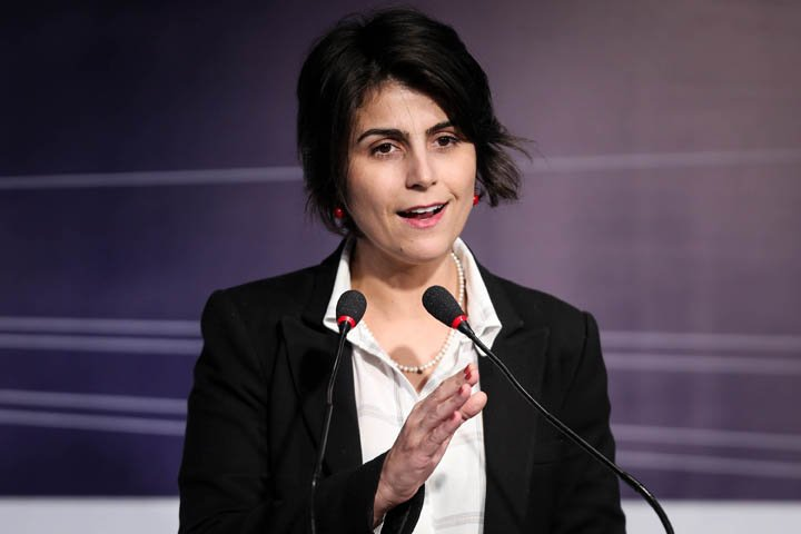 @BroadcastImagem: Manuela D'Ávila (PCdoB) participa de debate no Abdib Fórum, em SP. Felipe Rau/Estadão