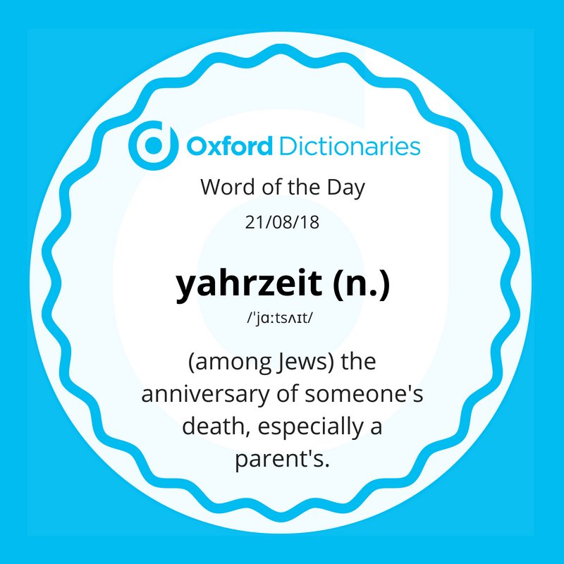 test Twitter Media - Word of the Day: yahrzeit -  (among Jews) the anniversary of someone's death, especially a parent's.  https://t.co/TQf0LFEDKU https://t.co/C3KNq8evnw