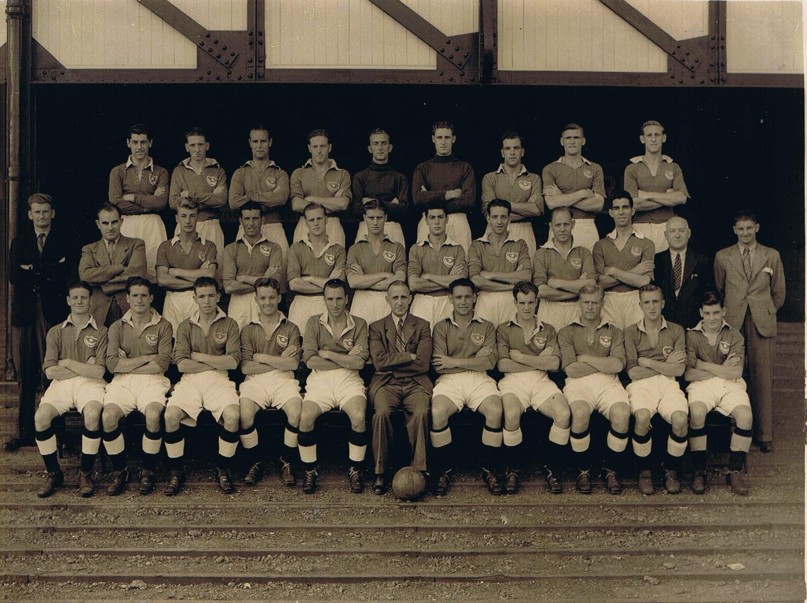 """Portsmouth's """"Golden Jubilee"""" season has finally arrived. Don't forget you'll be able to follow its progress right here. We'll be bringing you all the news """"as live"""" from on the pitch and behind the scenes. Just look for #OTD1948 and #PompeyChampsOfEngland https://t.co/gY7pH1bNDO"""