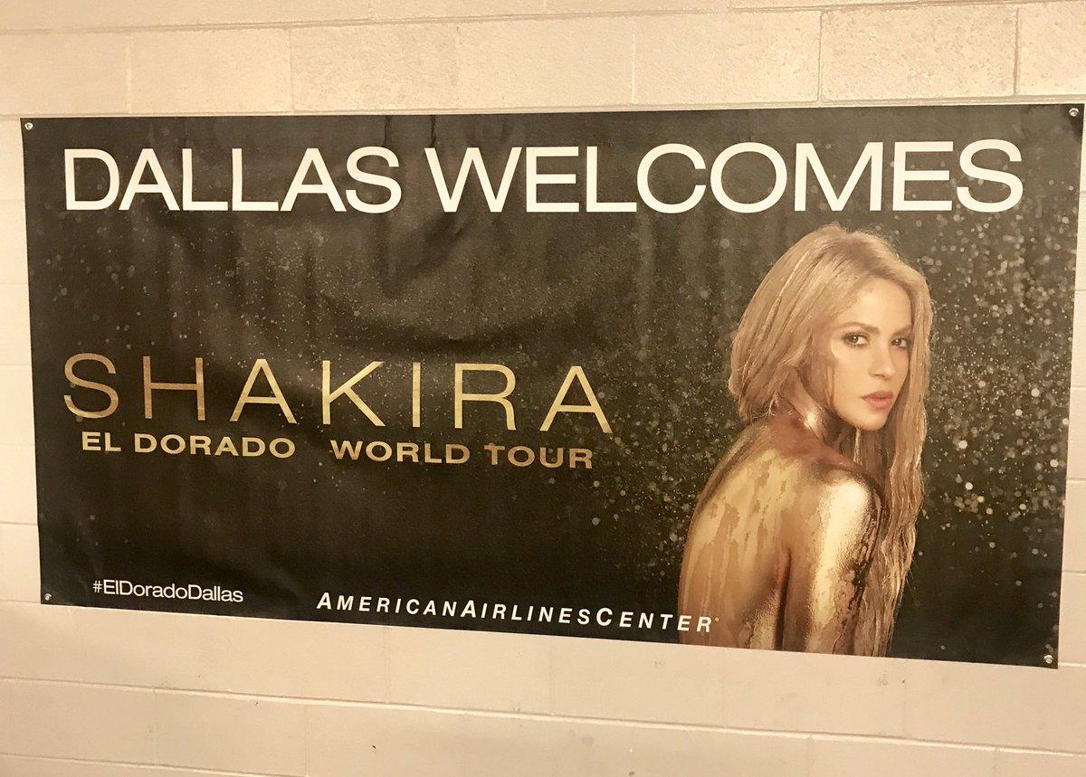 RT @AACenter: .@shakira and the #ElDoradoWorldTour have arrived in Dallas!! https://t.co/VnkKxjBtLZ
