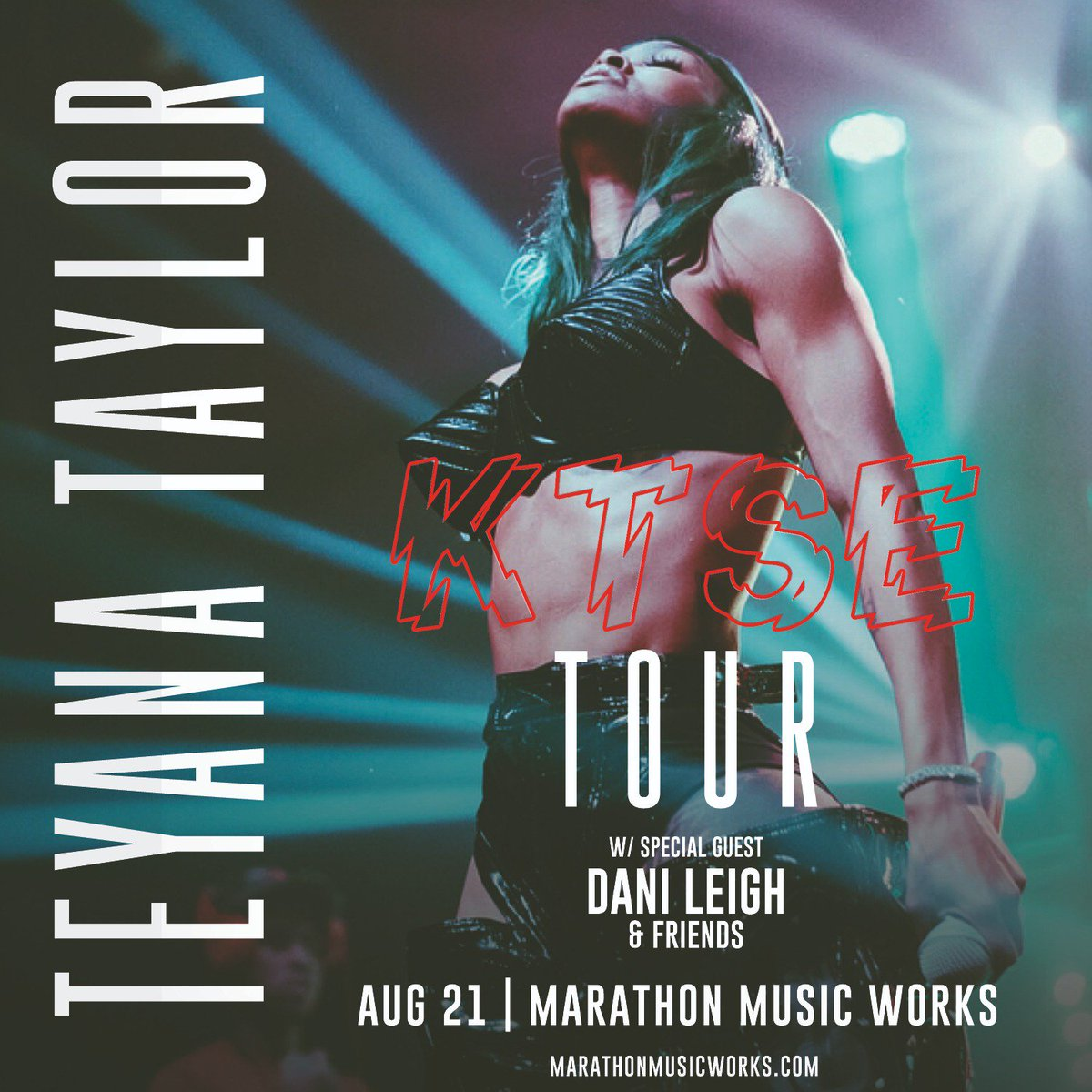 RT @AEGPresentsNash: TONIGHT! @TEYANATAYLOR w/ @DaniLeigh @MMusicWorks! Tickets available online or at the door. https://t.co/1fzTo05o7M