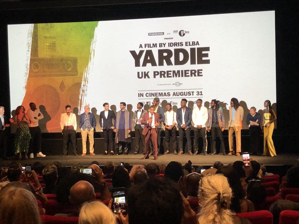 At the premiere of #Yardie - Bless 'em! @idriselba @BFI #London #Kingston https://t.co/iz1lCPLDqE