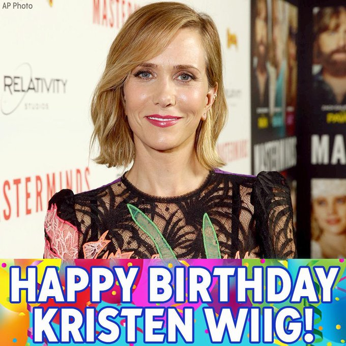 "Happy Birthday to ""Bridesmaids\"" and \""SNL\"" star Kristen Wiig!"