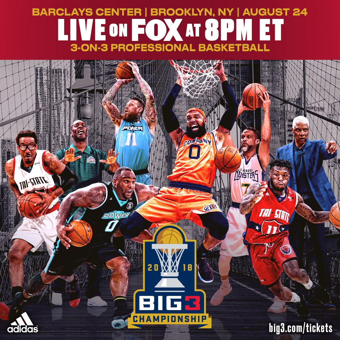 Tonights the night!! Tune in 8pm ET only on @FOXTV for @thebig3 championship! WE CHANGING THE GAME https://t.co/u1Pivhuqrn