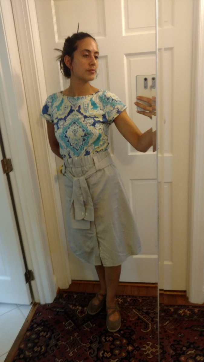 1 pic. Made this skirt out of one of my Dad's old church shirts 3lPtLuJ5tb