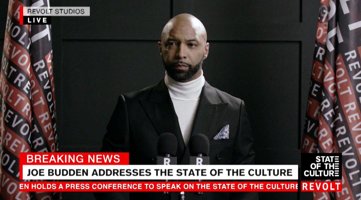 ????BREAKING NEWS????  @JoeBudden addresses the STATE OF THE CULTURE on @REVOLTTV https://t.co/GOAqyn4Eql