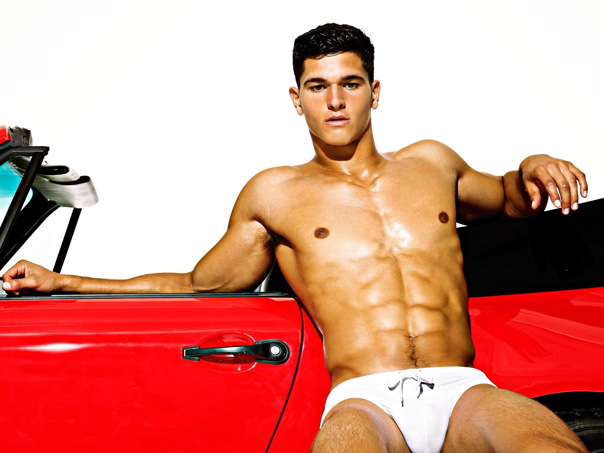 Hottie in a Red Car 🚗 TREVOR SIGNORINO ♥️ For Charlie by Matthew Zink @charliebymz 🧡💛💚💙💜 #Sexy #Stud #Hottie #HumpDay #MaleSuperModel #Handsome #ModelOfTheMonth #August #DamnHotBod #Yummy https://t.co/7b7AxlyiQ5