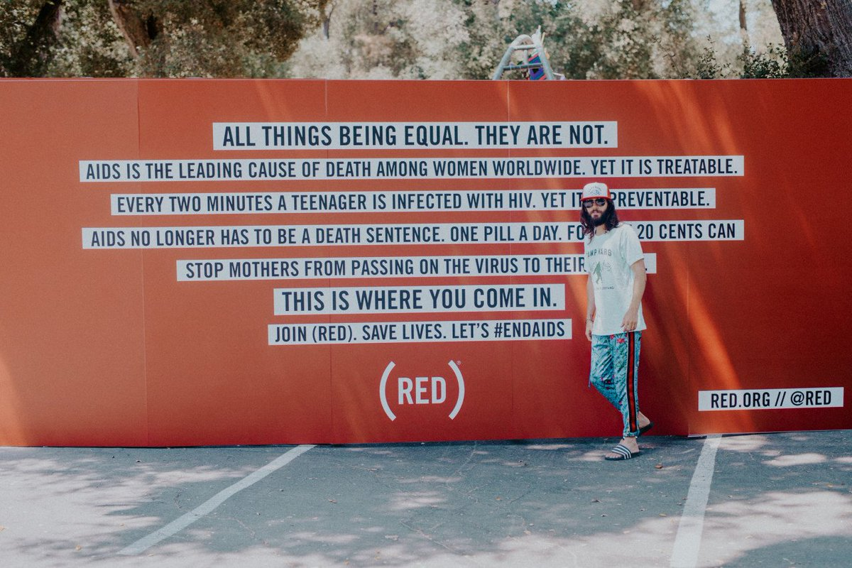 RT @RED: #TBT: still not over @JaredLeto fighting AIDS with @RED at #CampMars. ???? https://t.co/0vjPvVf6Iq