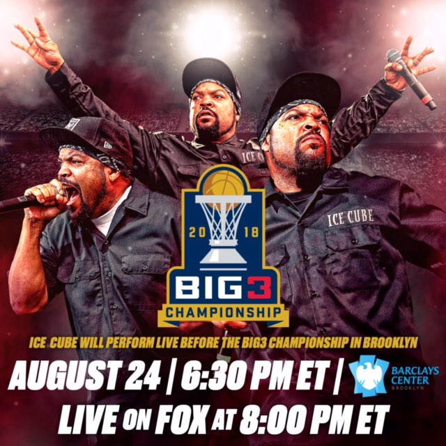 This is what you get tomorrow inside the@barclayscenter 1 show & 2 Games #BIG3Championship https://t.co/p7SXXueuDa