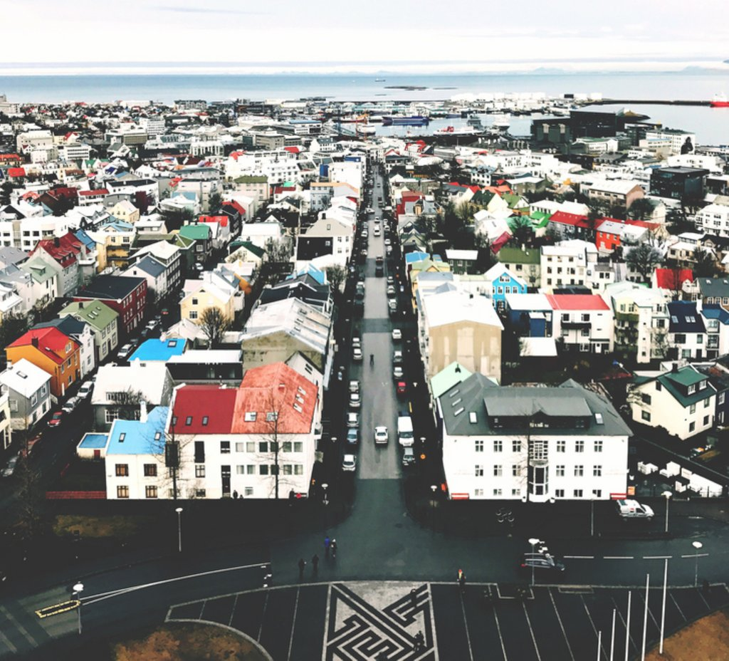 Reykjavik, Iceland — as seen from the air. https://t.co/rO9cK0VjaR https://t.co/vay6MCSk2D