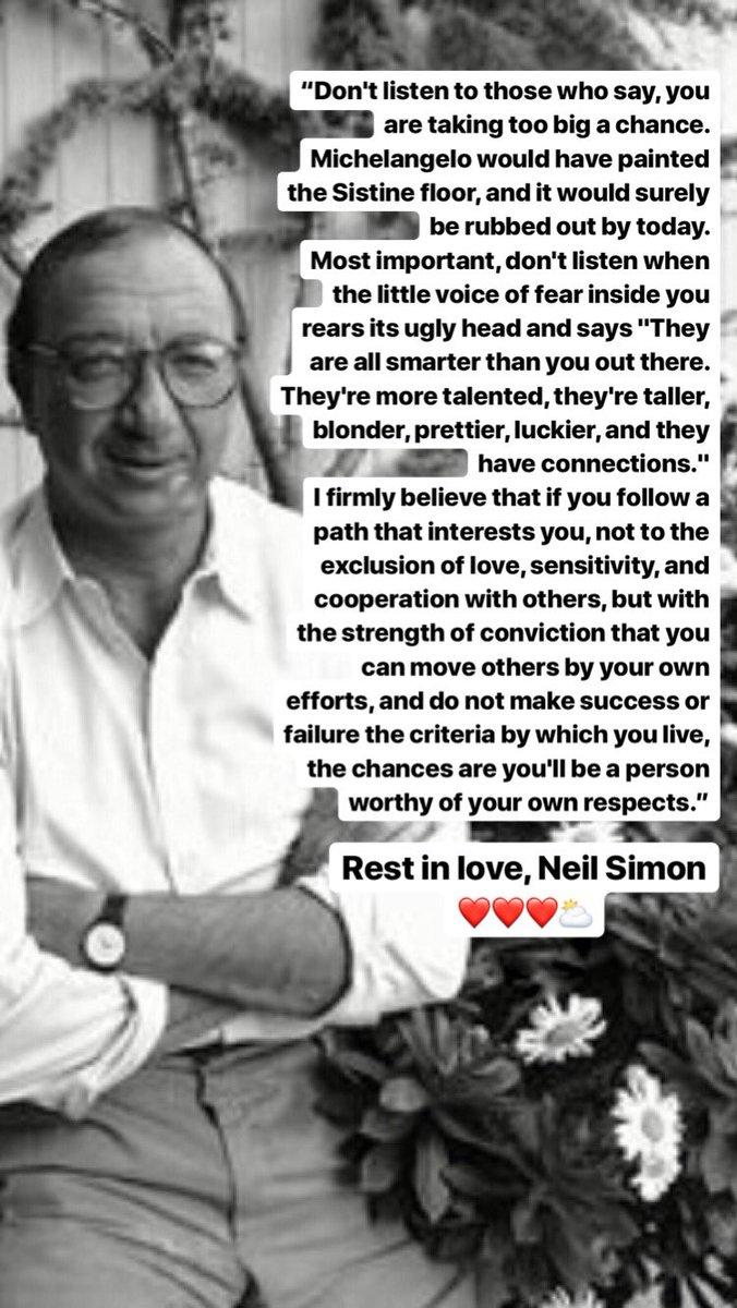 #NeilSimon ❤️❤️❤️⛅️ https://t.co/epUkNcTgfW
