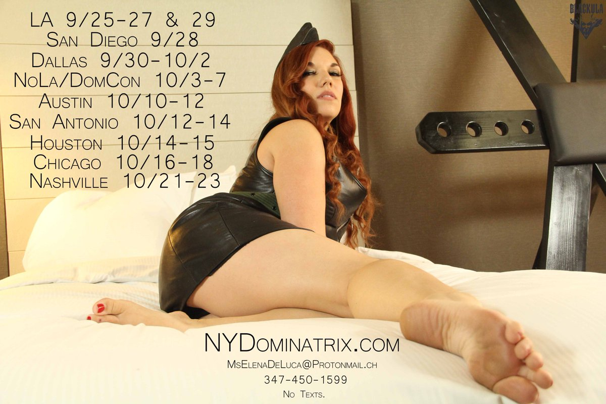Mistresses, if you want to play together while I'm on tour just send me a message and let's do some doubles