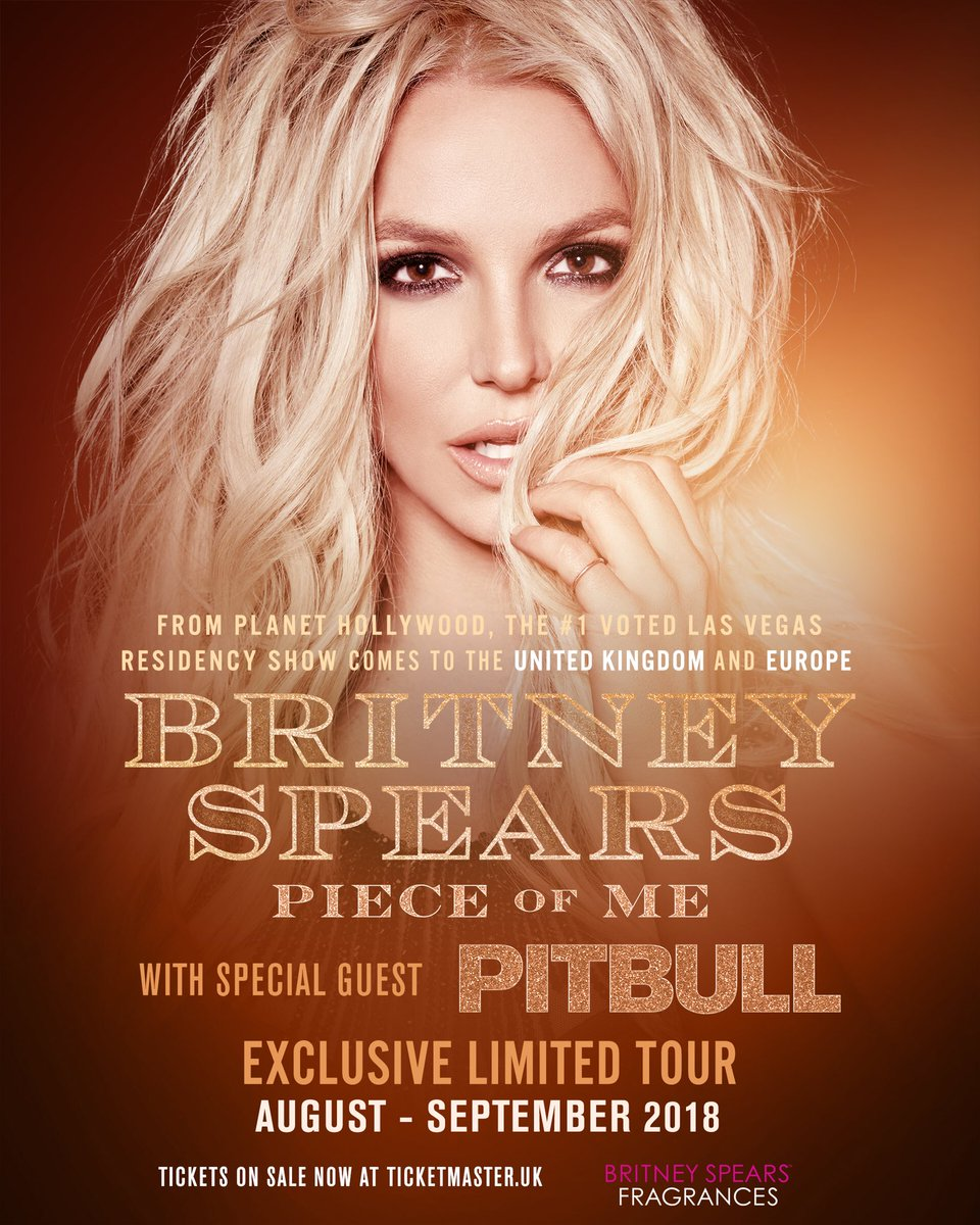Bittersweet! Last week of shows with @britneyspears! Let's keep the party going, dale! https://t.co/9Wa1ZxNeQL