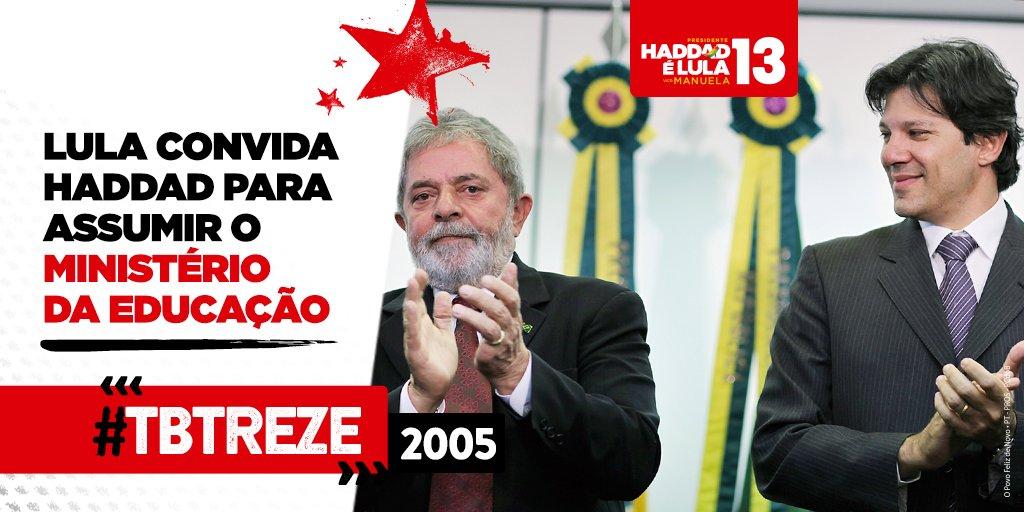 RT @LulaOficial: Participe do #TBTreze e publique sua foto histórica. https://t.co/3cyLJKqzO2