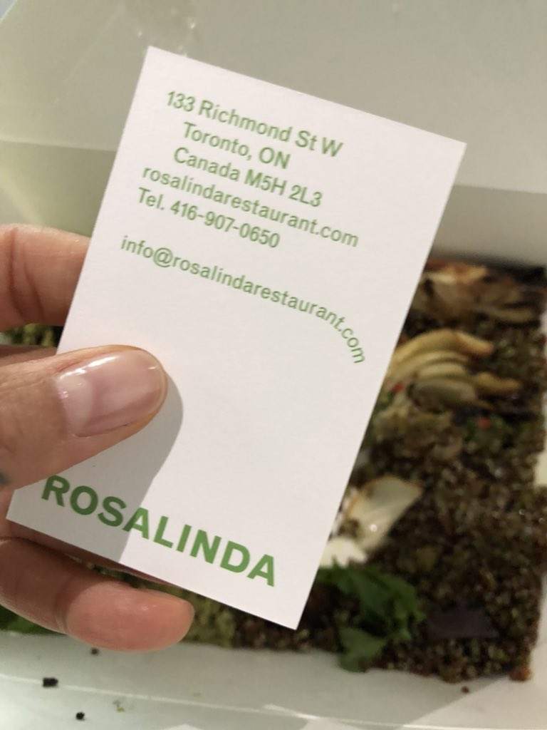 The most delicious #Vegan food #Rosalindas Toronto @TIFF_NET  ate there every day! X T https://t.co/0uSVzsYXRO