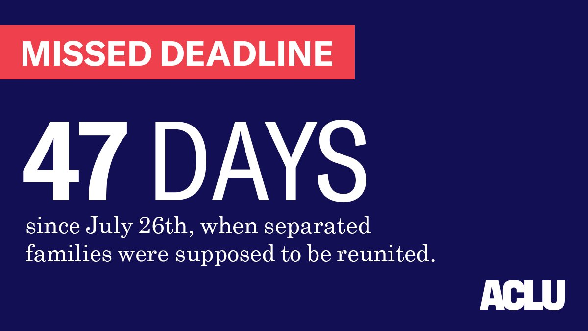 RT @ACLU: Hundreds of children still don't know when — or if — they'll see their families again. https://t.co/Ciw2oAvHKH
